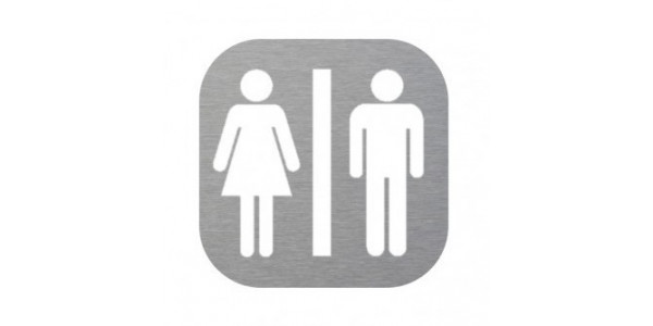 Plaque de porte - toilette homme femme