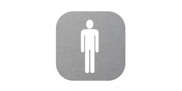 Plaque de porte WC homme