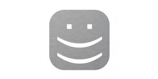 Plaque de porte Smiley sourire