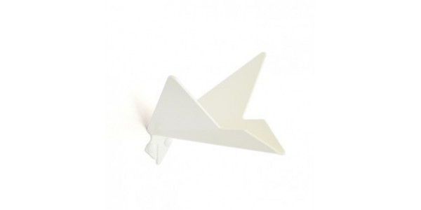 Patère blanche oiseau modèle 1