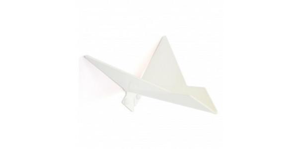 Patère blanche oiseau modèle 2