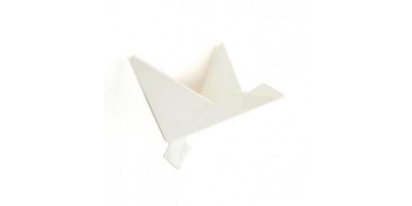 Patère blanche oiseau modèle 3