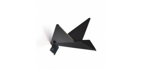 Patère noire oiseau modèle 1