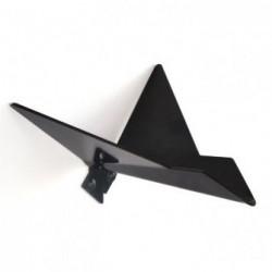Patère noire oiseau modèle 2