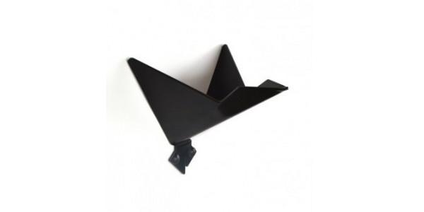 Patère noire oiseau modèle 3