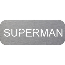 Plaque de porte inox superman