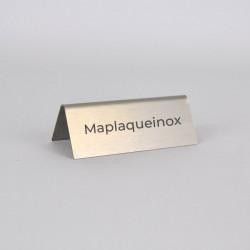 Chevalet inox personnalisé