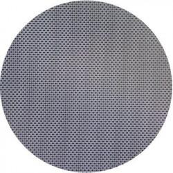 Plaque inox toile de lin ronde