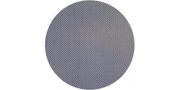 Plaque inox d corative toile de lin ronde d coupe sur mesure for Plaque inox sur mesure