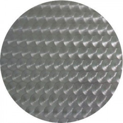 Plaque inox texture cuir rectangle