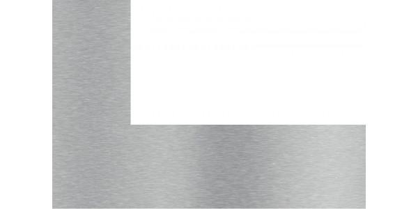 Plaque inox brossé sur mesure avec découpe à droite