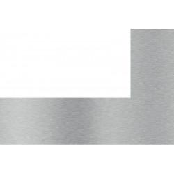 Credence inox brossé avec découpe sur coté gauche