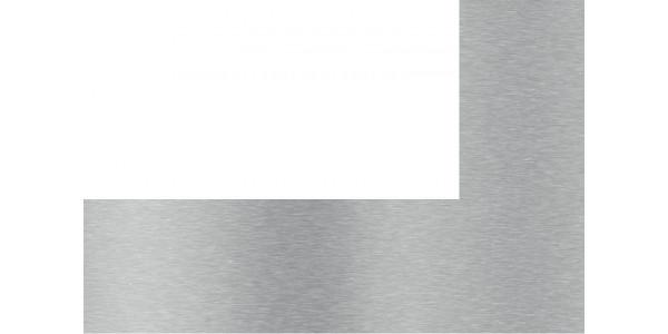 Plaque inox brossé avec découpe sur coté gauche