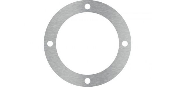 Rondelle inox brossé avec 4 trous