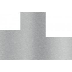 plaque inox découpée brossé avec 2 découpes