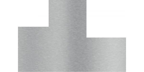 Plaque inox brossé avec 2 découpes