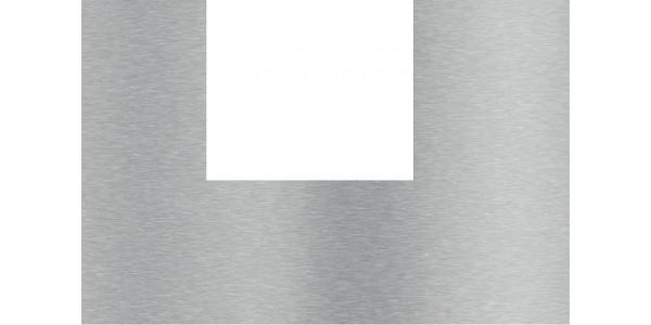 Plaque inox brossé découpe en U