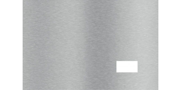 Plaque inox brossé une une prise
