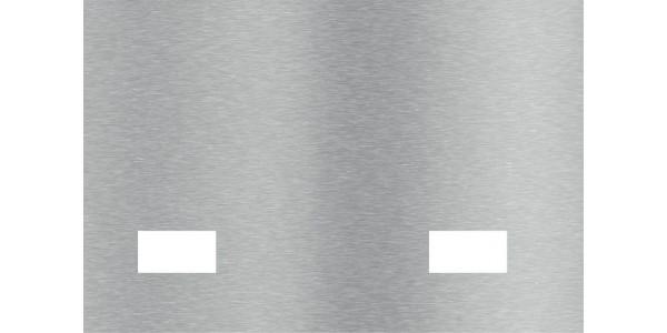 Plaque inox brossé une deux prises