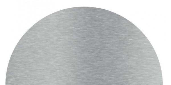 Plaque inox brossé cercle coupé sur mesure