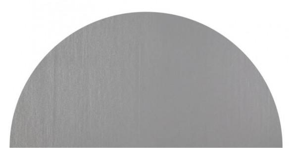 Plaque inox brut cercle coupé