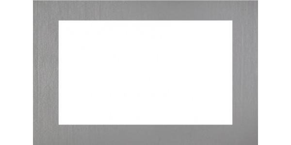 Plaque inox 304 brut - cadre rectangulaire