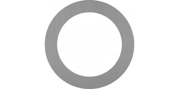 Plaque inox brut - cadre rond - couronne