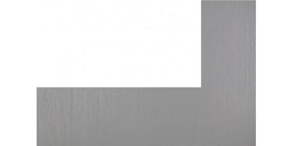 Plaque inox brut 304L - rectangle découpé à gauche