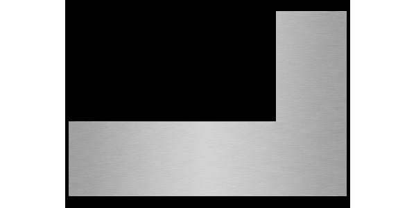 plaque aluminium brossé anti-traces sur mesure découpe gauche