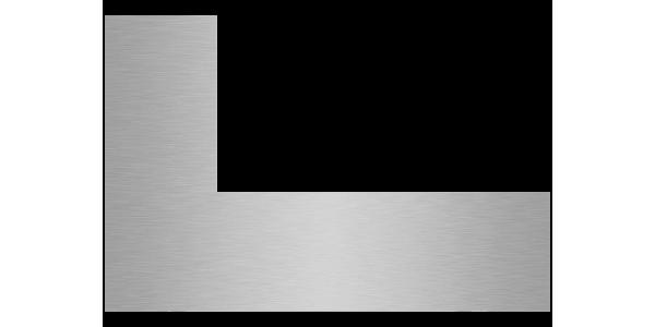plaque aluminium brossé anti-traces sur mesure découpe droite