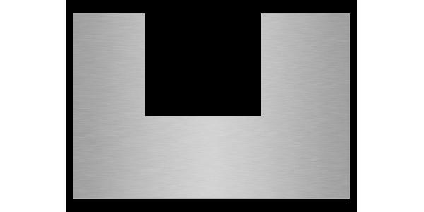 plaque aluminium brossé anti-traces sur mesure découpe U