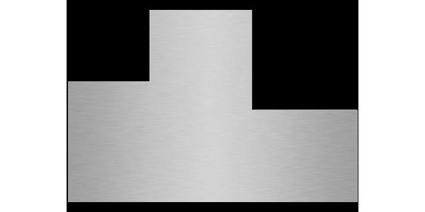 plaque aluminium brossé anti-traces sur mesure 2 découpes