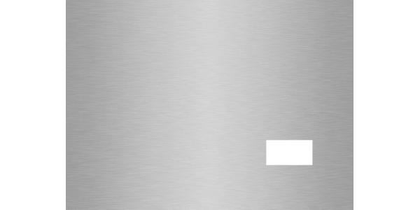 plaque aluminium brossé anti-traces sur mesure 1 trou
