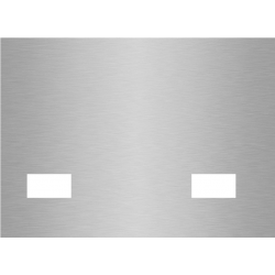 plaque aluminium brossé anti-traces sur mesure 2 trous