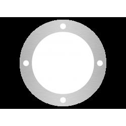 rondelle aluminium brossé anti-traces sur mesure 4 trous