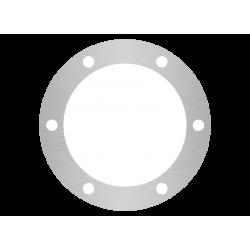 rondelle aluminium brossé anti-traces sur mesure 6 trous