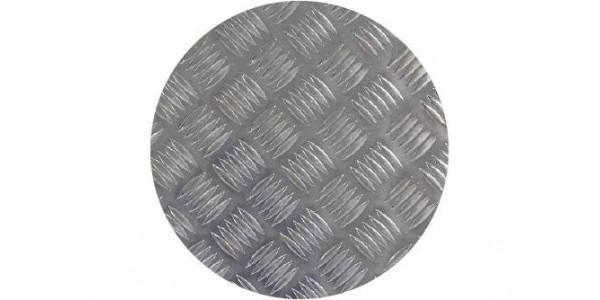 plaque ronde aluminium damier sur mesure