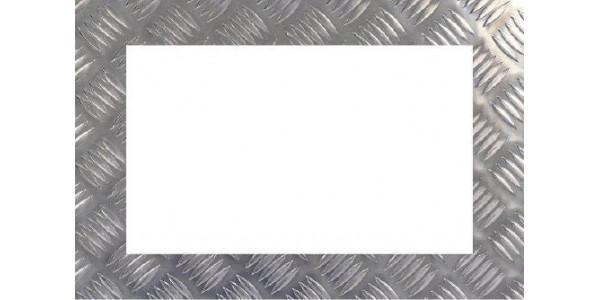 cadre aluminium damier sur mesure