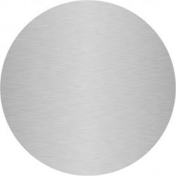 plaque ronde aluminium brossé anti-traces sur mesure