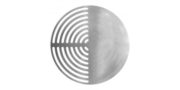 Grille inox mixte ronde sur mesure