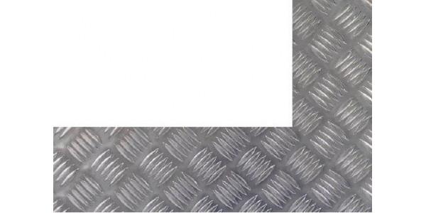 Plaque aluminium damier découpe gauche