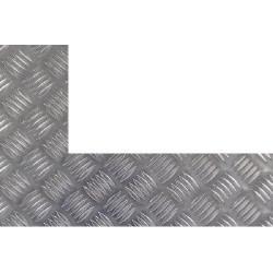 Plaque aluminium damier découpe droite