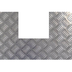 Plaque aluminium damier découpe en U