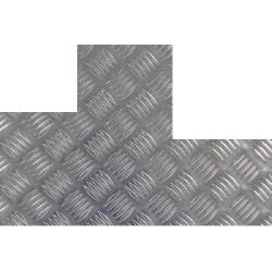 Plaque aluminium damier 2 découpes