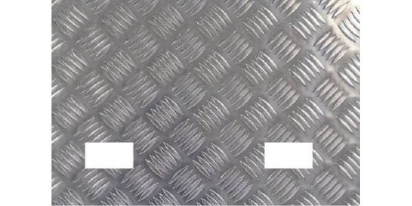 Plaque aluminium damier 2 trous