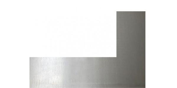 Plaque acier brut décapé découpe gauche