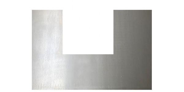 Plaque acier brut décapé découpe en U