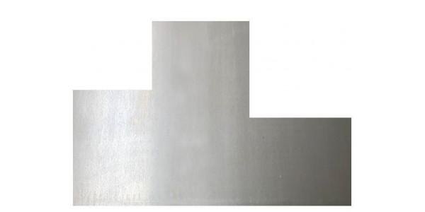 Plaque acier brut décapé avec 2 découpes