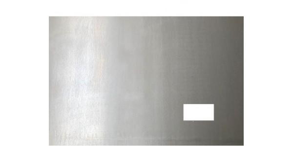 Plaque acier brut décapé avec 1 trou