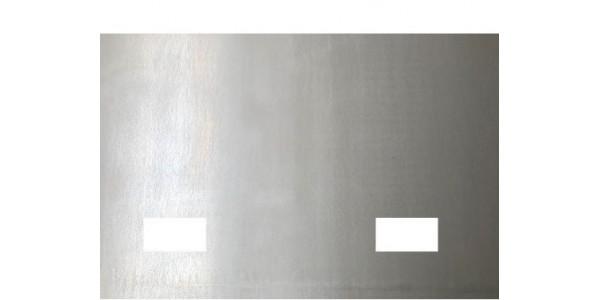 Plaque acier brut décapé avec 2 trous